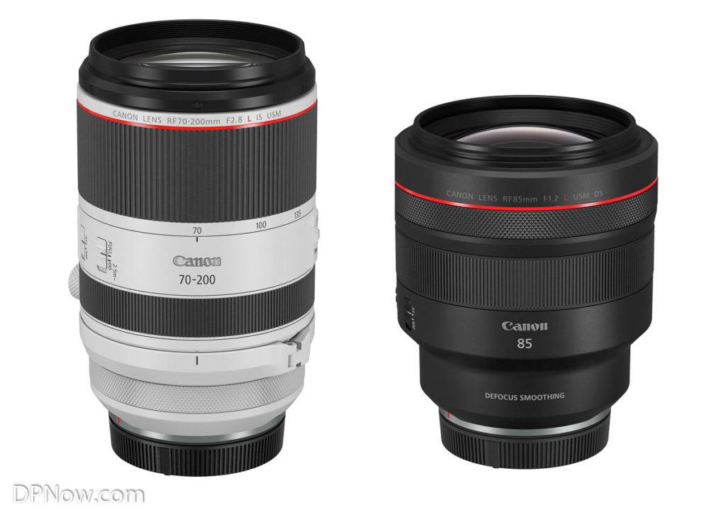 Canon RF 70-210mm F2.8L IS USM and RF 85mm F1.2L USM DS